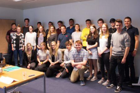 Die Teilnehmer des Jugendforums der SAB 2019 - Vertreter aus den Kanton Wallis, Graubünden, Uri und Luzern